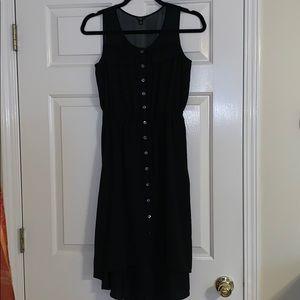 Ann Taylor button up black dress